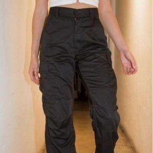 Brandy Melville black Piper worker cargo pants S
